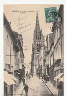 Cadillac ( Gironde) Rue Du Marché , Eglise , Animée - Cadillac