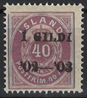 Iceland Island 1902. Mi 32A, MH - Neufs