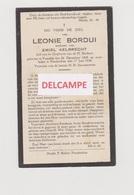 DOODSPRENTJE BORDUI LEONIE WEDUWE AELBRECHT VRASENE NIEUWKERKEN 1868 - 1930  Bewerkt Tegen Kopieren - Images Religieuses