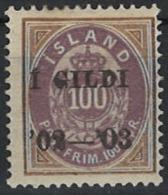 Iceland Island 1902. Mi 34A, MH - Neufs