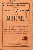 1875 - ALGÉRIE - Dépt. De Constantine - Commune De JEMMAPES - LIVRET DE FAMILLE - Documentos Históricos