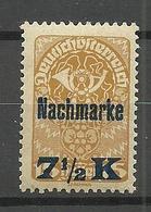 Österreich Austria 1921 Michel 102 Nachmarke MNH - Portomarken