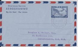 Papua New Guinea Used Air Mail Letter To Nz Aérogramme Papouasie Port-Moresby 21.07.1962 - Papua New Guinea