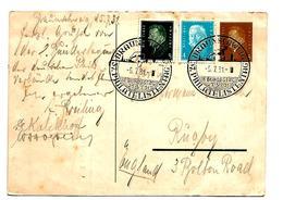 WGA362 / Deutsches REICH - Philatelistentag Braunschweig 1931, Aufgewertet Nach Engñand (Rugby) PP 106/002 - Briefe U. Dokumente