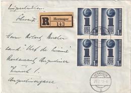 AUTRICHE 1952 LETTRE RECOMMANDEE DE HERLAGOR AVEC CACHET ARRIVEE ZURICH - 1945-.... 2nd Republic