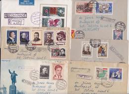 Urss Lot De 6 Lettres Timbres Ussr Stamp Mail Cover - 1923-1991 URSS
