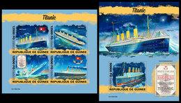 GUINEA 2019 - Titanic. M/S + S/S. Official Issue [GU190416] - Bateaux