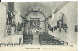 LA ROQUEBRUSSANNE   ( VAR )    INTÉRIEUR DE LA CHAPELLE - La Roquebrussanne