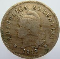 LaZooRo: Argentina 10 Centavos 1919 VF - Argentine