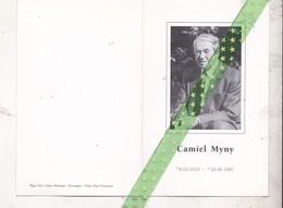 Camiel Myny-Verbrugghe, Ichtegem 1910, Zwevegem 1997 - Décès