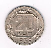 20 KOPEK  1939  CCCP  RUSLAND /9217/ - Russie