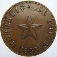 LaZooRo: Chile 1 Centavo 1853 XF - Chile