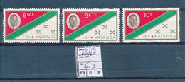 KATANGA TSHOMBE FLAG RED CROSS SET COB 66/68 MNH - Katanga