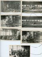 7 PHOTOS. CHAMBÉRY ? Dépôt Ou Atelier.Train Machine électrique P. L. M.161 Ce 1. 262 AE 3. Rotonde Pont Plaque Levage - Cars