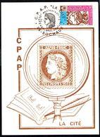 """Y/T N° 1783 S/ Cp -  ARPHILA 75 PARIS - Oblit. """"C.P.A.P. """"LA CITE"""" - SOCHAUX - 19/20 OCT. 1974"""". - Cartas"""