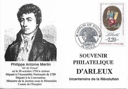CARTE POSTALE TIMBRE , FDC Premier Jour De La Flamme : MERLIN DE DOUAI . 59 ARLEUX 1989 - FDC