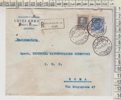 Storia Postale 1928 Annulli Bologna Succursale Busta Magazzini Errani - Storia Postale