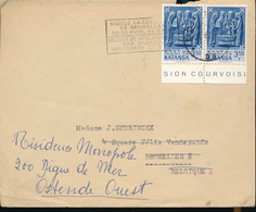 KATANGA COVER FROM E/VILLE  TO BRUSSELS + REFORWARDED TO OOSTENDE - Katanga