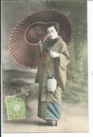 Chine  Geisha   Cachet  Tangku 1908 - China