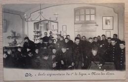 ATH - Ecole Régimentaire Du 1er De Ligne - Mess Des Elèves - Circulé: 1913 - 2 Scans. - Ath
