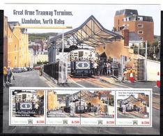 Trein, Train, Locomotive, Eisenbahn : Railway Heritage: S.Tome E Principe :  Orme Tramway Terminus Llandudo, North Wales - Eisenbahnen