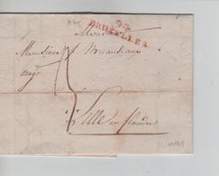 10PR/ Précurseur LAC Daté De BXL 1803 Griffe Rouge 94 BRUXELLES Port 3 > Lille En Flandre - 1794-1814 (French Period)