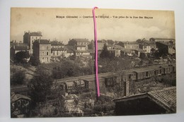 BLAYE   -  Quartier De L'Hopital-Vue Prise De La Rue Des Maçons - ( CHEMIN DE FER  ) - Blaye