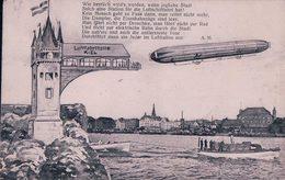 Allemagne, Schleswig-Holstein, Kiel Luftfahrthalle Und Zeppelin (16.5.1909) - Kiel