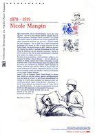 """"""" NICOLE MANGIN ."""" Sur Document Philatélique Officiel De 2015  N° YT 4936. Parfait état DPO - Militaria"""