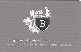 Switzerland: Bürgenstock Hotels & Resort, Bürgenstock - Hotelkarten