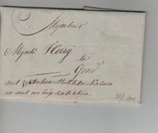 11PR/ Précurseur LAC Daté De Thielt 8/Nov/1811 > Gend (Gent) Pas De Marques - 1794-1814 (French Period)