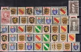 DO 15417 LOT FRANSE ZONE SCHARNIER + GESTEMPELD  ZIE SCAN - Verzamelingen (zonder Album)