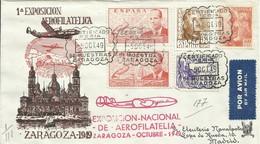ESPAÑA, SOBRE CONMEMORATIVO  1ª  EXPOSICION  AEROFILATELICA  ZARAGOZA   AÑO  1949 - 1931-50 Briefe U. Dokumente