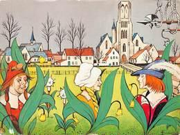 West-Vlaanderen  Damme Uilenspiegelstad Uilenspiegel Stad  Oscar Bonnevalle Tijl, Nele En Lamme Goedzak      Barry 3098 - Damme