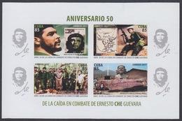 SIN DENTAR. CHE. ANIVERSARIO 50 DE LA CAÍDA EN COMBATE DE ERNESTO CHE GUEVARA. CUBA 2017 MNH - Non Dentellati, Prove E Varietà