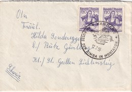 AUTRICHE 1955 LETTRE DE VANDANS - 1945-.... 2nd Republic