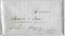 Bordereau Double Expédition Houille Bateau ISAAC 1856 / 39 DOLE /  C. CUISENIER Pour Salines De GROZON Vers Arbois - Francia