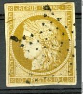 N°1 10ct Bistre Cote 350 €. Oblitération étoile. Voir Description - 1849-1850 Cérès