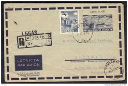 POLOGNE YT PA 38 OBL Sur Lettre PAR AVION.  1955     ( LM23 ) - Airmail