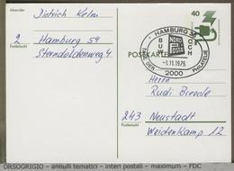 GERMANIA - DEUTSCHE - Postkarte - HAMBURG  NORD POSTA 1975 - Esposizioni Filateliche