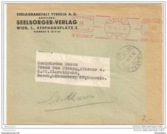 55 - 25 - Enveloppe Commerciale Envoyée De Vienne En Suisse 1937 - Oblitération Mécanique Rouge - 1918-1945 1st Republic