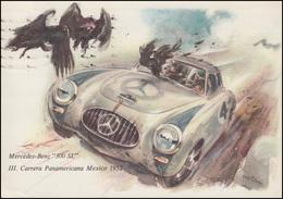 Ansichtskarte Gruss Aus Stuttgart Mercedes-Benz 300 SL  5.11.55 - Voitures