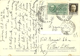 ESPRESSO 1,25 + 0,30 Imperiale  Cartolina  FIORI  Rachel Ruysch - 1900-44 Vittorio Emanuele III