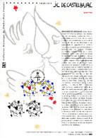 """💖 """" SAINT-VALENTIN COEURS DE JC CASTELBAJAC """" Sur Document Philatélique Officiel  De 2015 :  N° YT 4924 25. DPO - Documents De La Poste"""