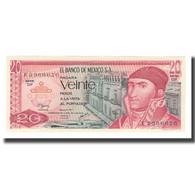 Billet, Mexique, 20 Pesos, 1972-77, 1977-07-08, KM:64d, NEUF - Mexiko