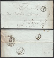 FRANCE LETTRE DATE DE PARIS 04/06/1803 GRIFFE T DANS UN CERCLE VERS PARIS (VG) DC-5203 - Poststempel (Briefe)