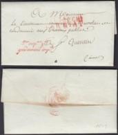 "FRANCE LETTRE DATE DE GAND 11/09/1809 ""AFFRANCHIT PAR ETAT"" GENDARMERIE IMPERIAL (VG) DC-5210 - Marcofilia (sobres)"