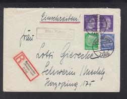 Dt. Reich R-Brief 1941  Klein Nebrau Nebrowo Male Marienwerder Polen Poland - Germany