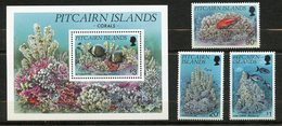 Pitcairn, Yvert YT 425/427+BF11**, Scott 407/410**, MNH - Timbres