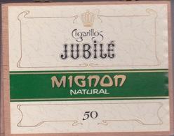 BOITE A CIGARE VIDE - CIGARILLOS JUBILEE - MIGNON NATURAL 50 - - Contenitori Di Tabacco (vuoti)